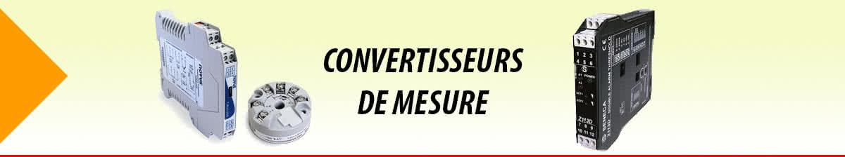 Convertisseurs de mesure