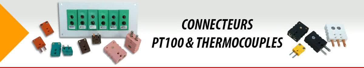 Connecteurs PT100 & Thermocouples