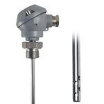 Sonde pt100 ajourée avec tete de type MA diam.6 L100mm