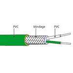 Câble d'extension thermocouple type K en PVC