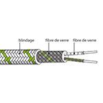 Câble d'extension thermocouple type K en Soie de verre