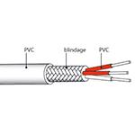 Câble de liaison PT100 blindé PVC