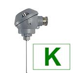 Sonde chemisé à tête miniature thermocouple K