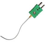 Sonde chemisée avec connecteur stand. Diam.0,5 L 250mm type K isolé