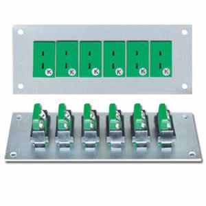Panneau avec 6 embases miniatures K