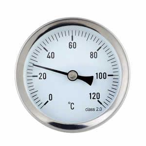 Thermomètre à cadran d'applique sur tuyauterie