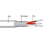 Câble de liaison PT100 blindé PFA