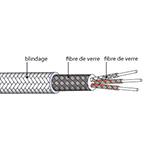 Câble de liaison PT100 blindé Soie de verre
