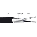 Câble d'extension thermocouple type J en PVC
