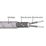 Câble d'extension thermocouple type N en Soie de verre