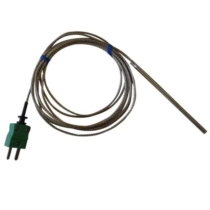 Sonde thermocouple K Ø4mm avec connecteur mini