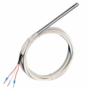 Sonde Pt100 lisse à cable 6 x 450mm PFA 1 m