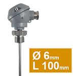 Pt100 à visser à tête type MA d.6 L100mm démontable