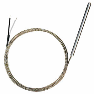Sonde thermocouple 450°C à câble soie de verre