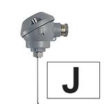 Sonde chemisé à tête miniature thermocouple J