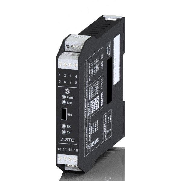 Interface 8 Entrées Thermocouples / Modbus Z-8TC